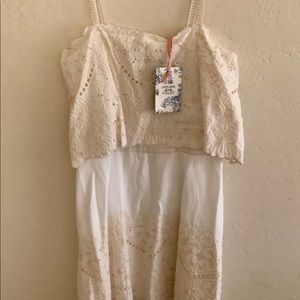 Chelsea & Violet Getaway Ivory Dress Size Small